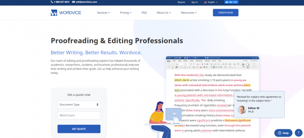 Wordvice- Proofreading Service Providers