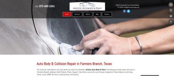 Artistic Auto Body and Paint Inc.- car body shops Dallas