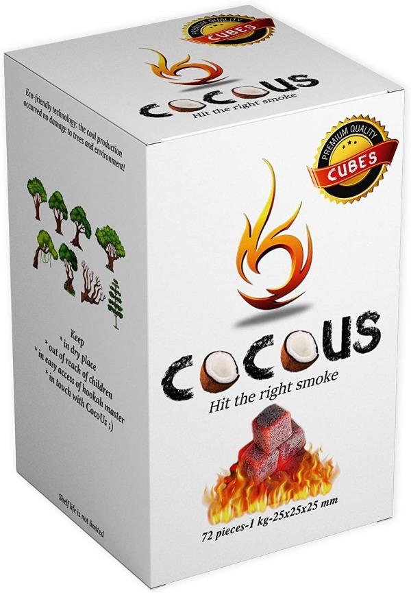 Cocous Coconut Charcoal Hookah Shisha Incense