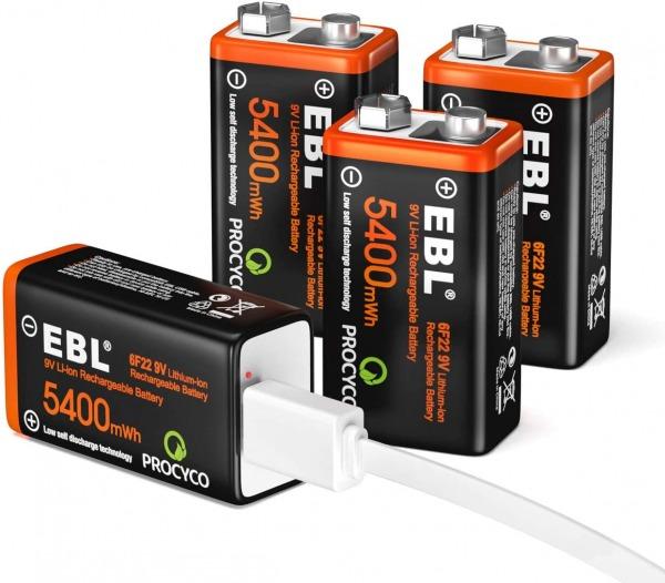 EBL 9v battery