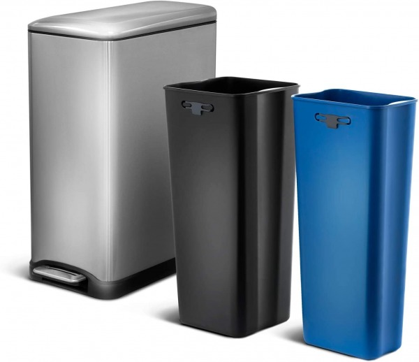 Home Zone Dual Compartment Trash Can