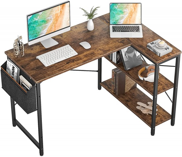 Homieasy 47 Inch Small L Shaped Computer Desk