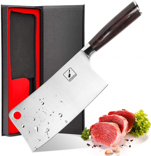 Imarku 7-Inch Professional Stainless Steel Butcher Knife