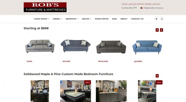 Rob's Furniture and Mattresses - furniture stores langley