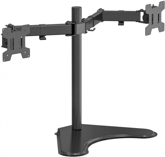 WALI Free Standing Dual LCD Monitor