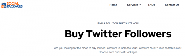 buy real twitter followers - SocialPackages