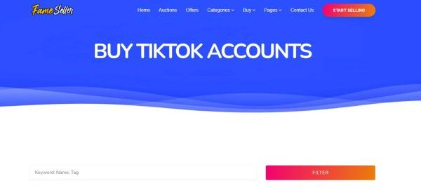 FameSeller -Buy TikTok Account