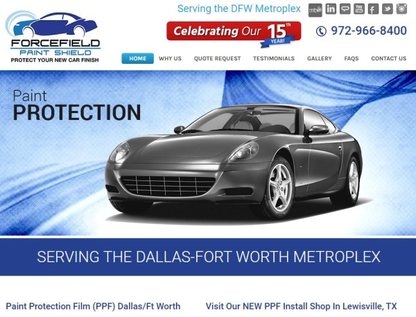 Forcefield Paint Shield - car paint protection film Dallas