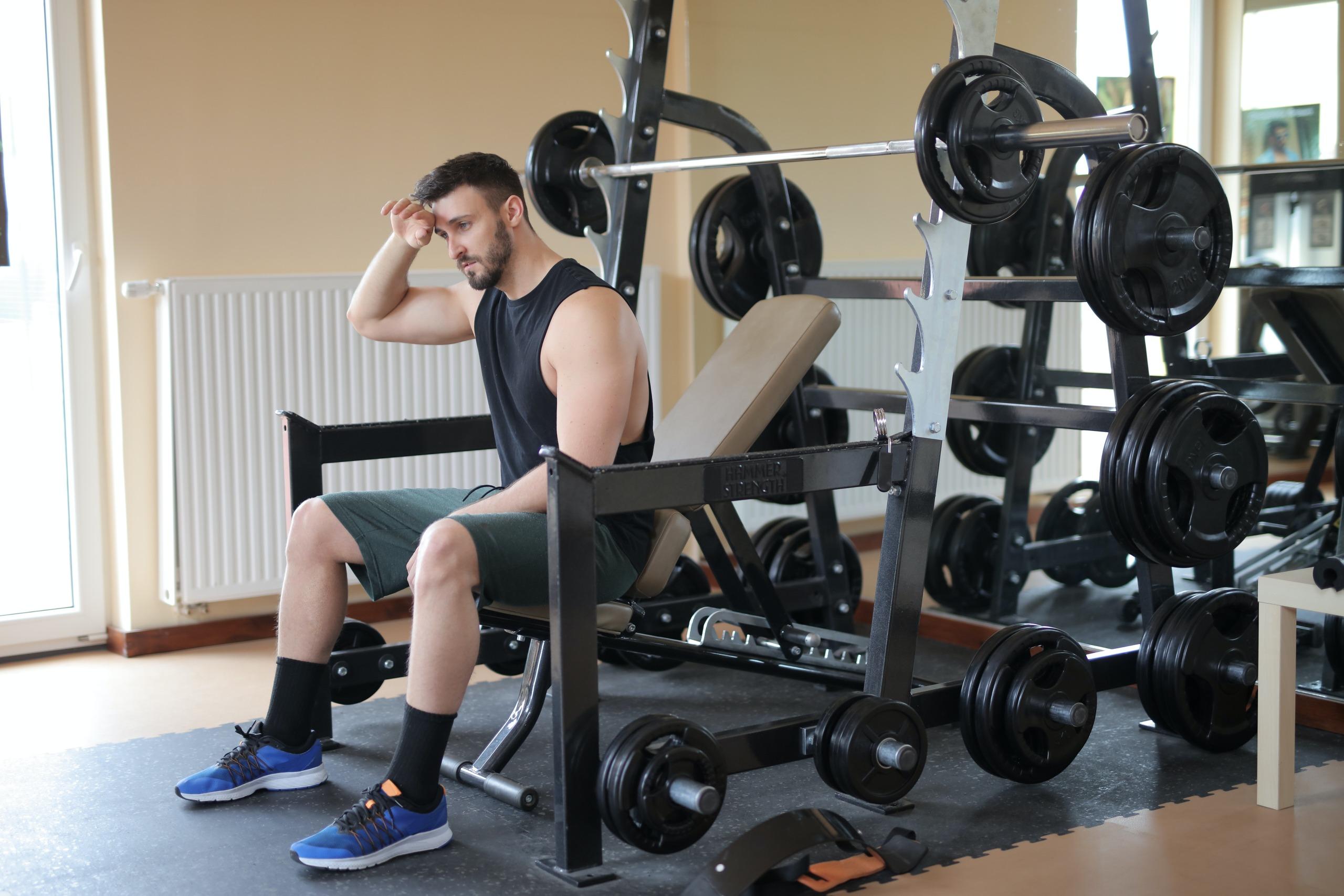 Men in gym