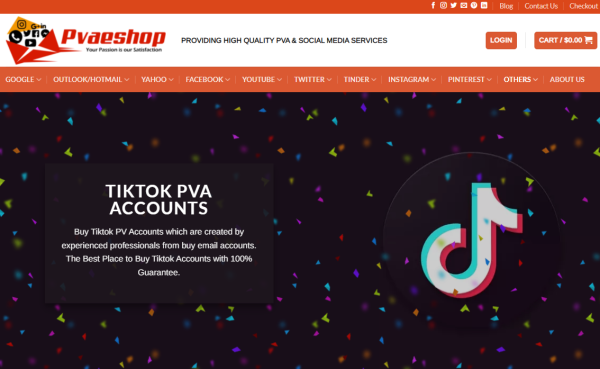 Pvaeshop - Buy TikTok Account