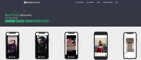 SocialTradia -Buy TikTok Account