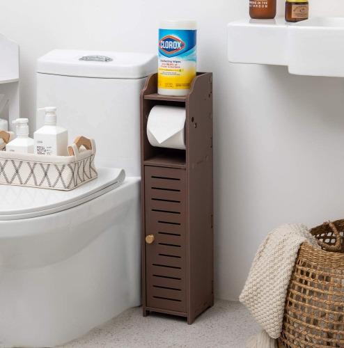 Tissue Paper Holder, Slim Bathroom Storage Cabinet